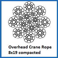 8x19 overhead crane rope