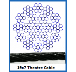 10mm 19 x 7 Theatre Cable (1m Length)