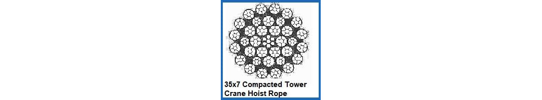 35x7 Compacted Tower Crane Hoist Rope