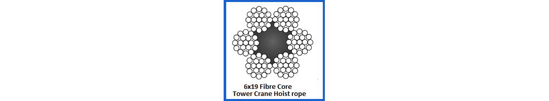 6x19 Fibre Core Tower Crane Wire Rope