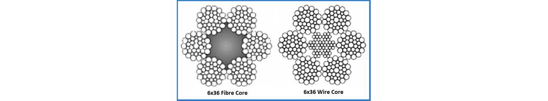 6x36 Galvanized Steel Rope Wire or Fibre Core
