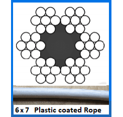 2.5mm 6×7 Plastic Coated Wire Rope (1m Length)