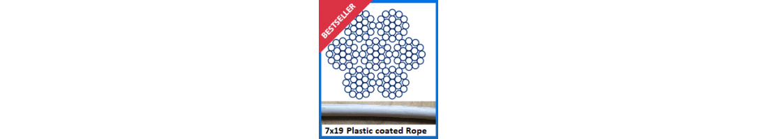 7 x 19 Plastic Coated Wire Rope