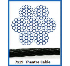 10mm 7 x 19 Theatre Cable (1m Length)