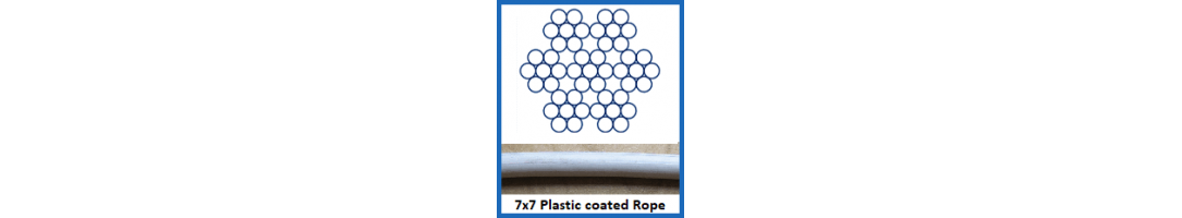 7x7 Plastic Coated Wire Rope