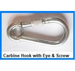 Carbine Hook with Eye & Screw Nut