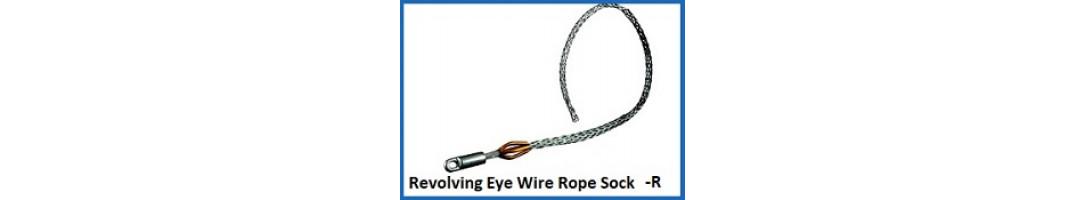 Revolving Eye Cable Sock Multi Weave