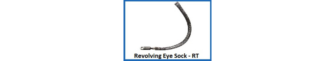 Revolving Eye Cable Sock Twin Weave