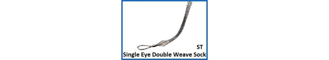 Single Eye Double Weave cable Sock