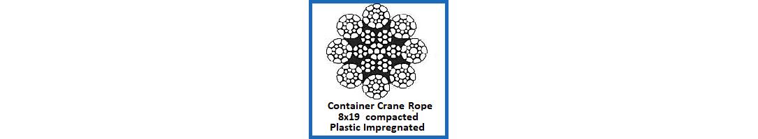 Plastic Impregnated 8x19 Container Crane Rope