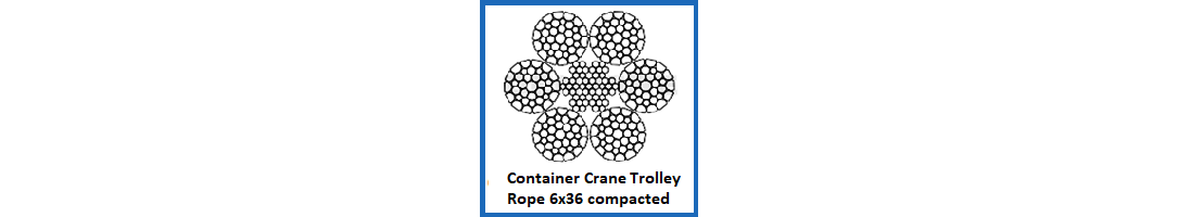 6x36 Compacted Container Crane Trolley Rope