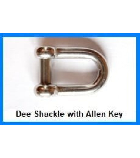 Stainless Steel D Shackle with Allen Pin