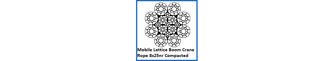 8x25 Mobile Lattice Boom Crane Rope – Compacted & Non Rotating