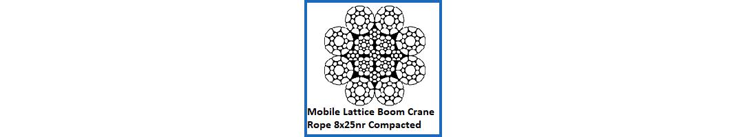 8x25 Mobile Lattice Boom Crane Rope – Compacted & Non Rotating