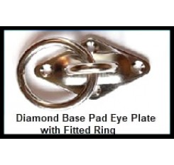 Diamond Base Pad Eye Plate With Ring