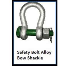 Safety Bolt Alloy Bow Shackle