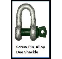 Screw Pin Alloy Dee Shackle