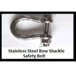 Stainless Steel Bow Shackle – Safety Bolt