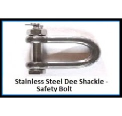 Stainless Steel Dee Shackle – Safety Bolt