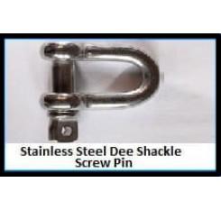 Stainless Steel Dee Shackle – Screw Pin