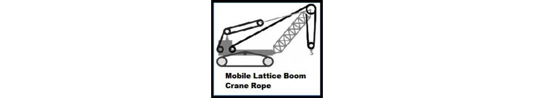 Mobile Lattice Boom Crane Rope