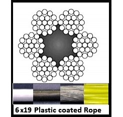 3mm 6x19 Plastic Coated Wire Rope (1m Length)