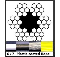 2mm 6x7 Plastic Coated Wire Rope (1m Length)