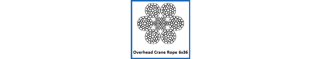 Overhead Crane Rope 6x36 construction