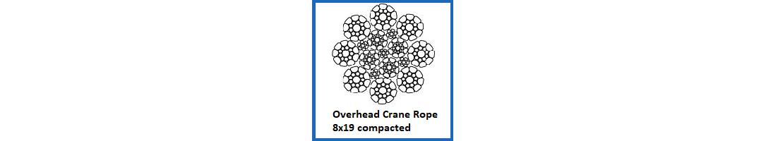 Overhead Crane Rope 8x19 Construction