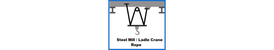 Steel Mill Crane Ropes / Ladle Crane Rope
