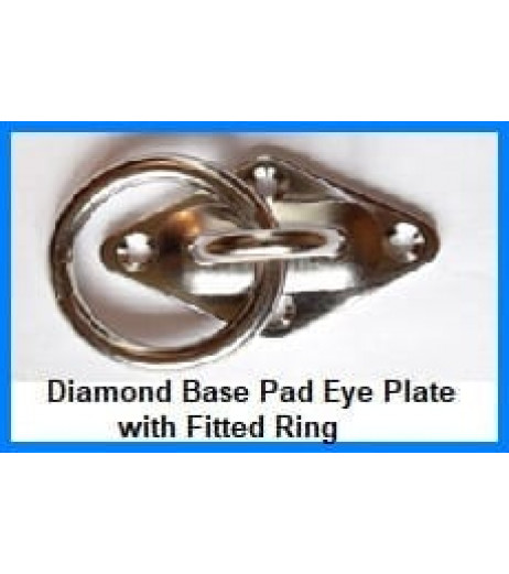 Diamond Base Pad Eye Plate With Ring