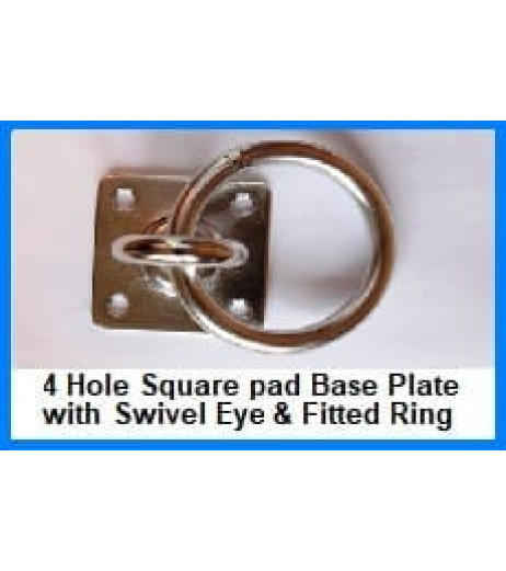 Four Hole Swivel Eyeplate with Ring