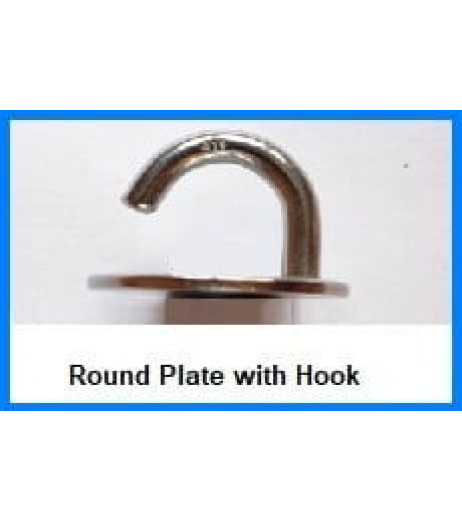 Round Base Plate With Hook
