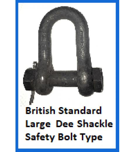 British Standard Large Dee Shackle Safety Bolt Type