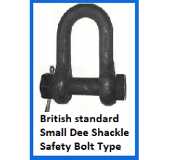 British Standard Small Dee Shackle safety bolt type