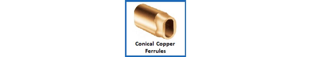 Conical Copper Ferrules
