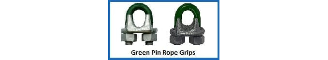 Green Pin Wire Rope Grips