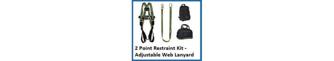 2 Point Restraint Harness Kit (adjustable web lanyard)