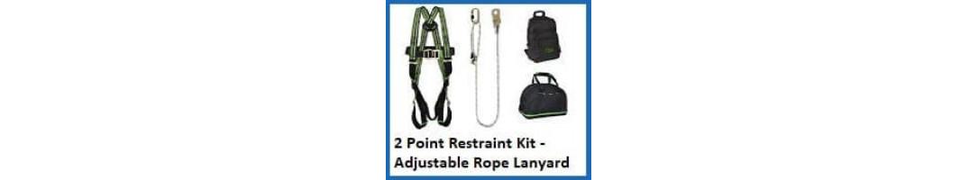 2 Point Restraint Harness Kit (adjustable rope lanyard)
