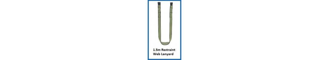 1.5m Restraint Webbing Lanyard