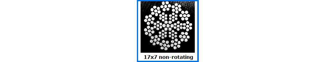 17x7 Non-rotating Wire Rope
