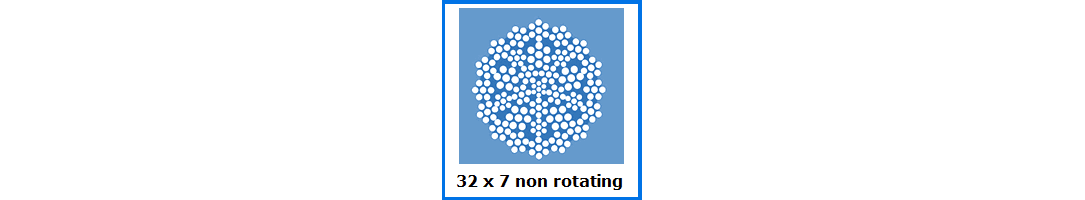 32x7 Non-Rotating Wire Rope
