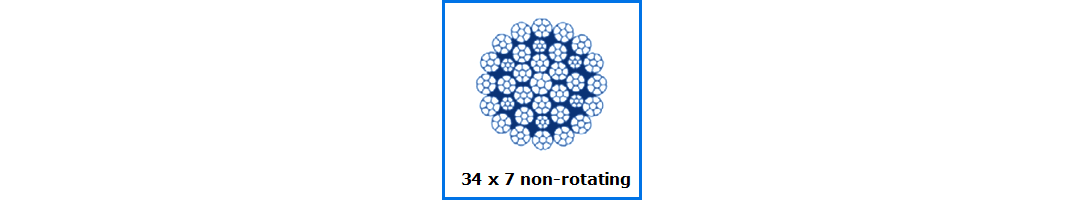 34x7 Non Rotating Wire Rope