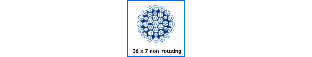36x7 Non-Rotating Wire Rope