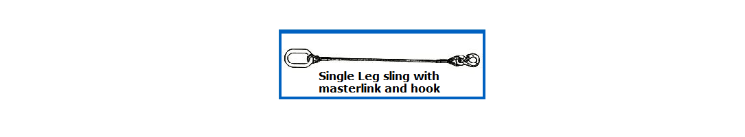 Single Leg Wire Rope Sling with Masterlink & Hook