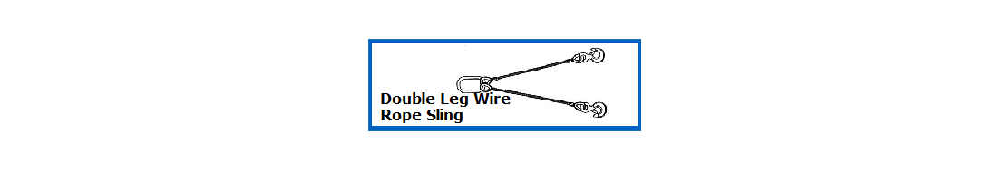 Wire Rope Double Leg Slings
