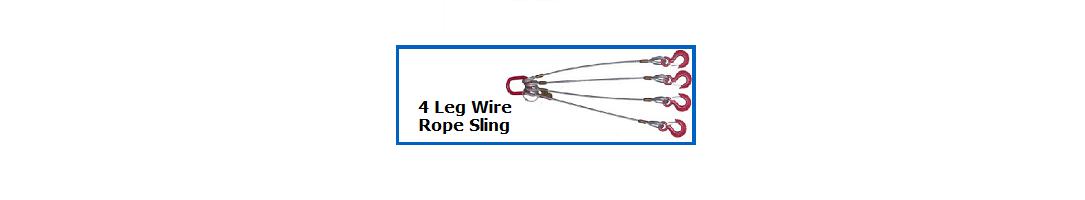 4 Leg Wire Rope Slings