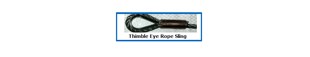 Thimble Eye Wire Rope Slings