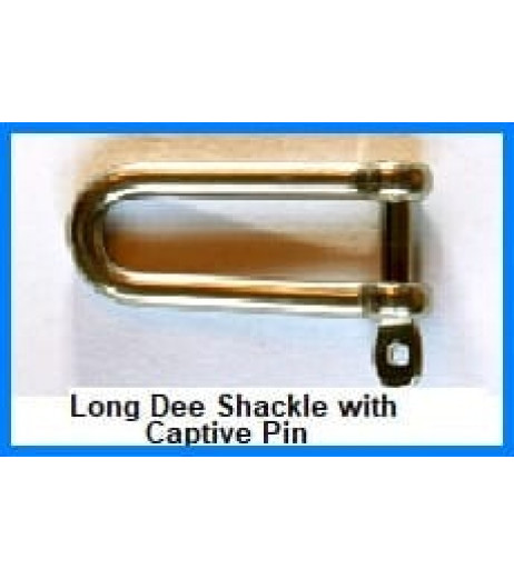 Stainless Steel Captive Pin Long Dee Shackle