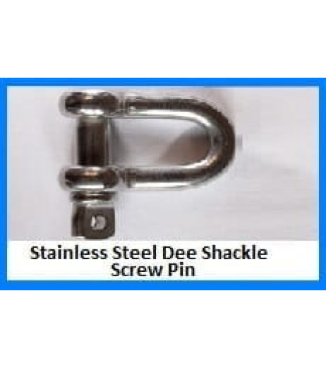 Stainless Steel Dee Shackle – Screw Pin